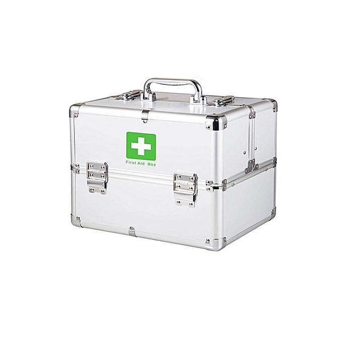 Generic 3 Layers First Aid Kit Cabinet Case Aluminium