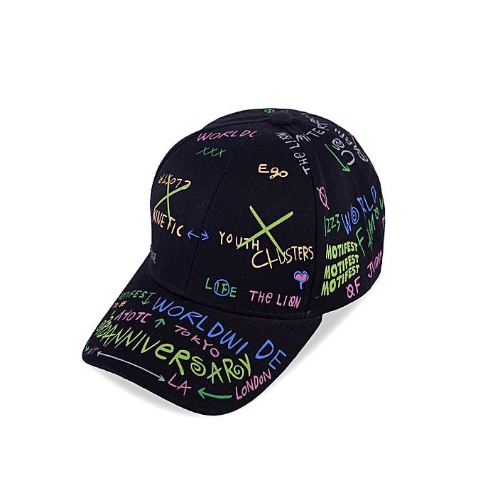 b427777f Hats/Caps Print Graffiti Dad Hat Individuality Outdoor Streetwear Hip Hop  Baseball Cap Men Women Cotton Adjustable Snapback Caps