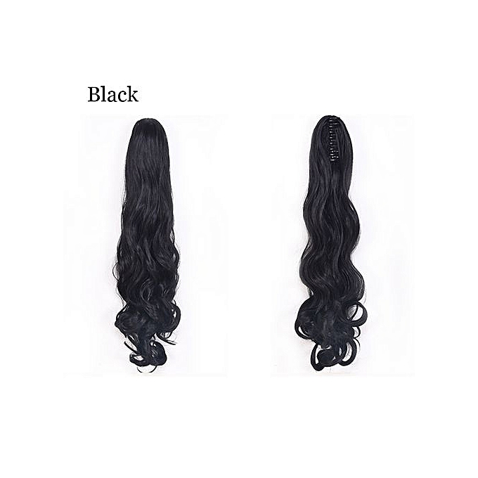 04ec530fc68 Fashion New Thick Clip In Curly Tail Hair Extensions Synthetic Claw ...