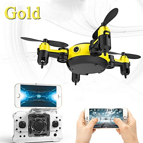 DRONE Camera WIFI FPV RC HD Quadcopter Altitude Pocket MINI Selfie Foldable Gold