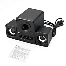 SADA D-203 Bluetooth Computer Speaker Stereo Portable Multimedia Laptop black