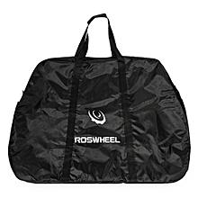 Portable Bike Cargo Bag For Mountain Road Bicycle - Black