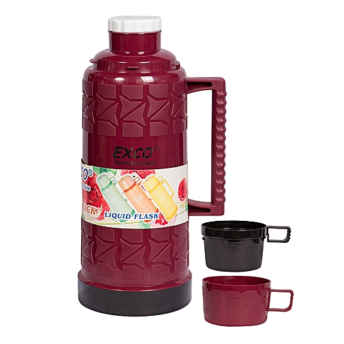 Stylish and Affordable Thermos Flask 1 8Litres - Maroon