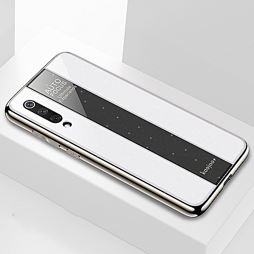 more photos 134f7 ac347 Electroplated Mirror Glass Case for Xiaomi Mi 9(White)