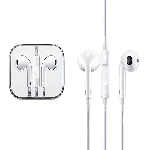 396febdcbd8b6e Generic iPhone 4/ 5 /6 / 6S / 6 Plus Earphones - White @ Best Price ...