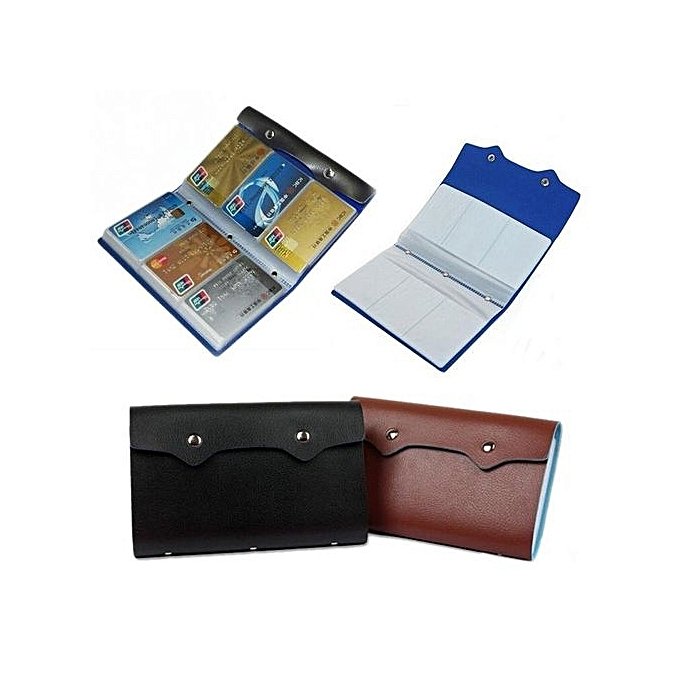 Buy fashion large capacity woman lady leather id credit card case large capacity woman lady leather id credit card case business card holder pocket bag wallet with reheart Images