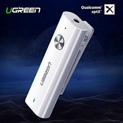 UGREEN Bluetooth 4 2 Receiver 3 5mm Aux Bluetooth Audio Receiver APTX  bluetooth adapter Music Headphone Aux Bluetooth Receiver, APTX-White By  HonTai