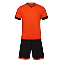 Customized World Cup Football Soccer Team Training Children And Men Sports Jersey-Orange