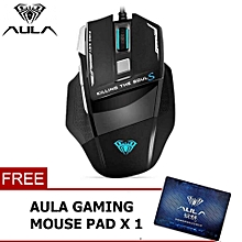 [NP59]  New Killing The Soul II Gamer Wired Gaming Mouse 7 Button 3500 DPI With Breathing Chroma Light For PC/Laptop HT