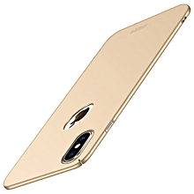 MOFI Frosted PC Ultra-thin Full Coverage Case for iPhone XS (Gold)