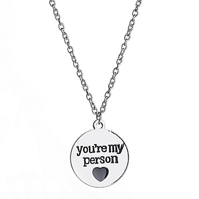 Buy sunshine personalized heart letter engraved pendant necklace personalized heart letter engraved pendant necklace chain necklace jewelry gift aloadofball Images