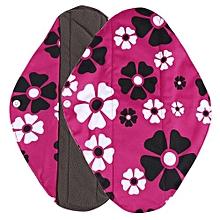 Reusable Bamboo Cloth Washable Menstrual Pad Mama Sanitary Towel Pad Hot Pink M