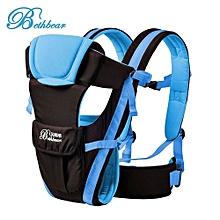 Multipurpose Adjustable Buckle Mesh Wrap Baby Carrier Backpack_BLUE