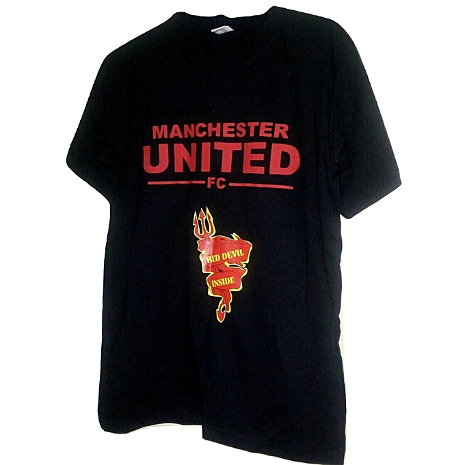 8564778e9 Fashion Manchester United football club T-shirt black @ Best Price ...