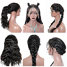 Indian Body wave Full Lace Human Hair Wigs - Natural Color