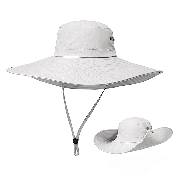 Men Summer Outdoor Casual Quick-drying Camouflage Fishing Hat Wide Brim  Sunshade Hat 885eda79fd8b