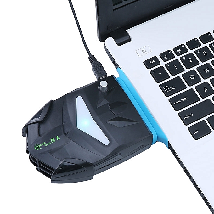 ... New niceEshop Laptop Cooler with Vacuum Fan, Laptop Air Extracting Cooling Fan (Black) ...