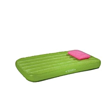 Flocked Children's Inflatable Air Mattresses Sentiment Bed with Pillow Camping bed with pump