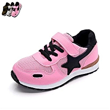 Girl's Non-slip Breathable Wearable Fashion Shoe Sneakers(Color:Pink)