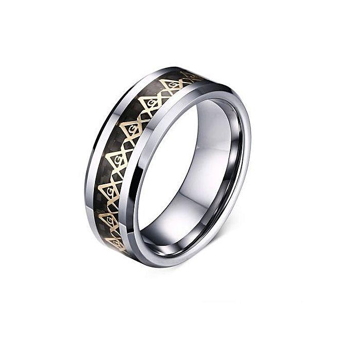 Tanson High Quality Crystal Gold Black Titanium Steel Wedding