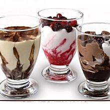 Dessert Drinking Glasses - 6 Glasses - Clear