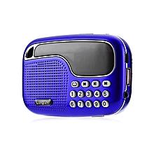 L - 21 JM2021 Mini FM Radio Speaker MP3 Player - Blue