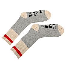 If You Can Read This Men Women English Letter Embroidered Cotton Socks