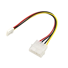 4 Pin Molex To 3.5 Floppy Drive FDD Internal Power Cable Adaptor 20cm