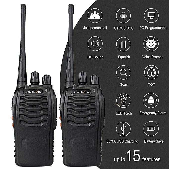 2 pcs H777 Walkie Talkie UHF 400-470MHz Ham Radio Hf Transceiver Two Way  Radio Communicator USB Charging Talkie Walkie GSJAW