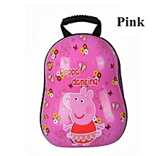 Peppy Pig Childrens Backpack 3D Cartoon Hard Cover School Bags Kids Egg Shell Bag - Pink