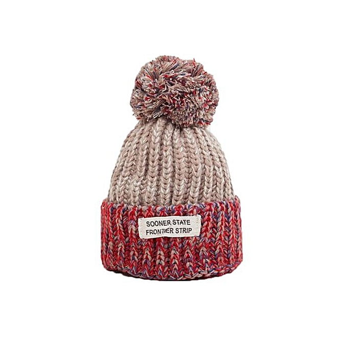 Winter Hat Hairball Hat Women Thick Women Hat Girls Caps Knitted Beanies Cap  BG 302900bd9a3b