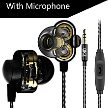 Earphones QKZ DM8 Mini Dual Driver Extra Bass Turbo Wide Sound gaming headset mp3 DJ Field Headset fone de ouvido auriculares PRI-P