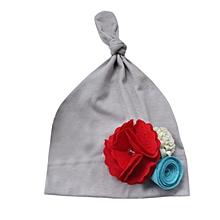 967d4b0745aef jiuhap store Cute Newborn Baby Girl Infant Toddler Flower knit hat Soft Hat  Cap GY-