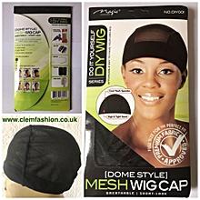 2pcs Black Mesh Spandex Dome Cap