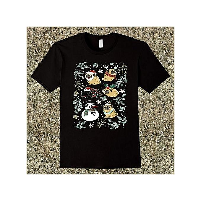 6d227a76b65 Funny Lab Dog Pugs Lover Christmas Men s T Shirt Summer Fashion Casual  Short Sleeve Tees O