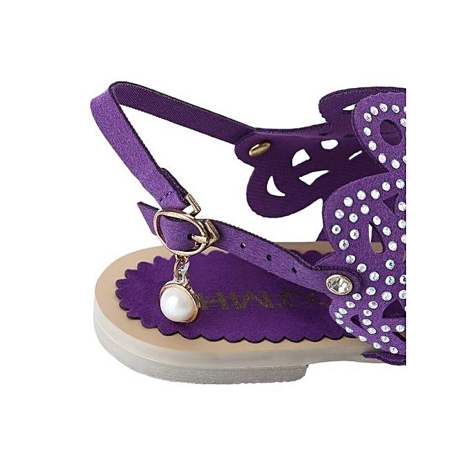 96d85cf53 ... Flip-flop Flat Sandals For Women Rome Rhinestone Design Shoes-PURPLE ...