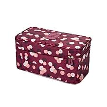 Fashion Portable Multi Functional Travel Organizer Storage Bag Panties Bra Storage Box Cosmetic Make-up Bag