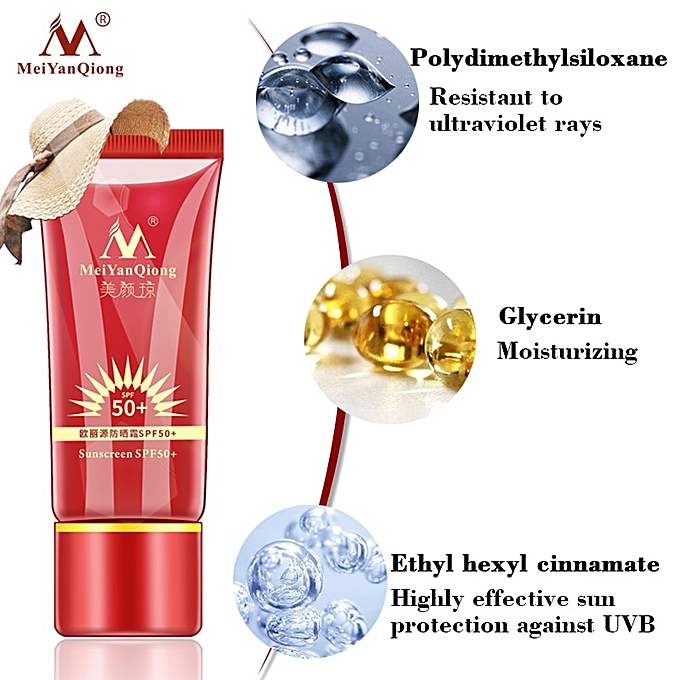 Meiyanqiong Sunscreen Spf50 Day Creams & Moisturizers Beauty Essentials Whitening Repair Sunblock Skin Protective Cream Anti-sensitive Oil-control Moisturizing Isolation