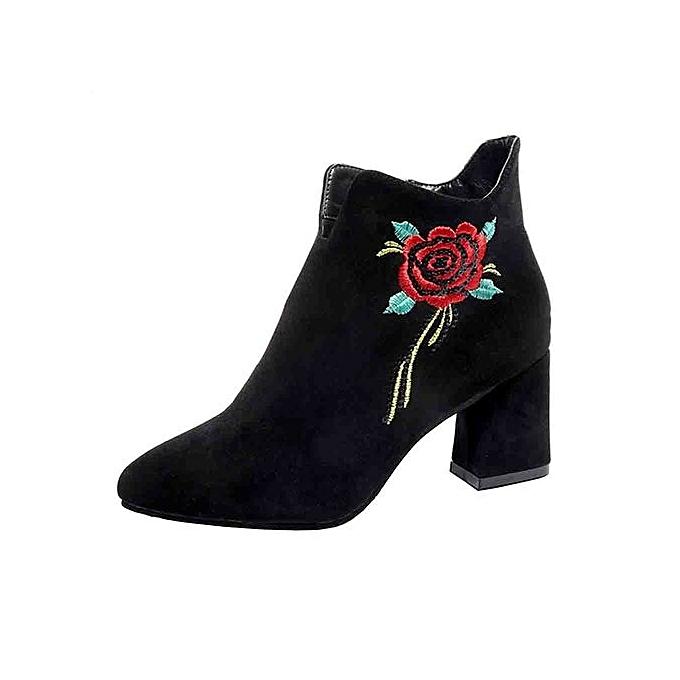 Black Boots Mid Calf