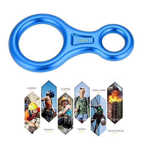 Buy Generic 35KN Figure 8 Word Rope Descender Rappel Ring Rock Climbing Rescue Gear Best Price