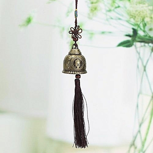 Chinese Wind Chime Buddha Single Bell Lucky Feng Shui Hanging Garden Decor