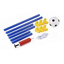 Folding Mini Football Soccer Goal Post Net Set with Pump Kids Sport Toy