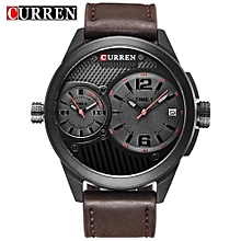 Watches, 8249 Men Top Brand Luxury Quartz-Watches Sport Waterproof Watches - Brown