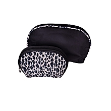 Leopard Cosmetic / Toiletry Bag, Makeup Organizer Pouch