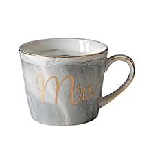 Ceramic Mug Marble Pattern Phnom Penh Mrs. Ms. Couple Cup Creative Grey Mrs