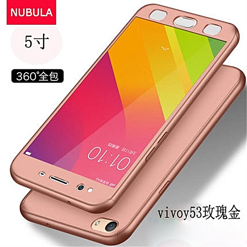 reputable site 77525 cc950 Phone Case For VIVO Y53 360 Degree Real Full Body Ultra-thin Hard Slim PC  Protective Case Cover With Tempered Glass 731264 Color-4