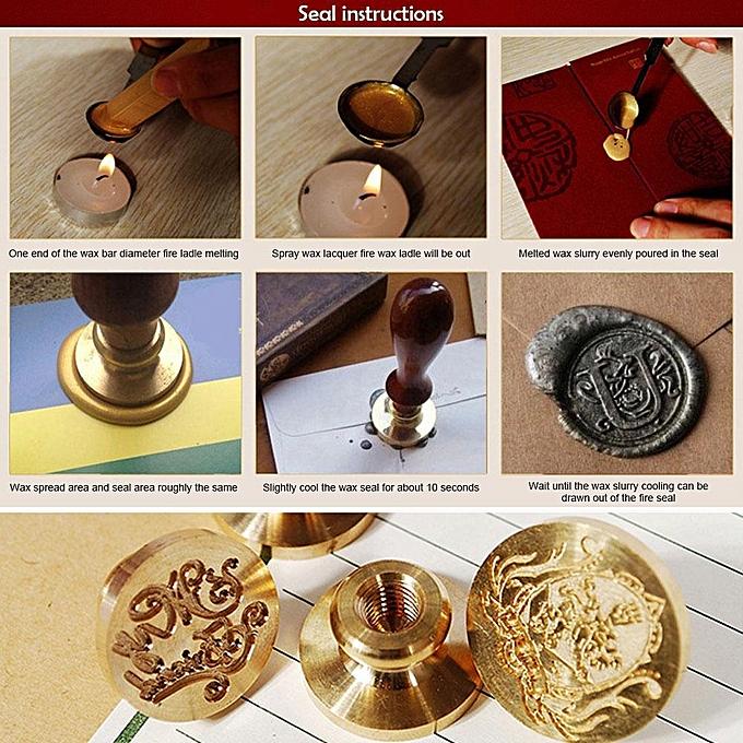 buy louis will wax seal stamp kit hogwarts magic school badge wax