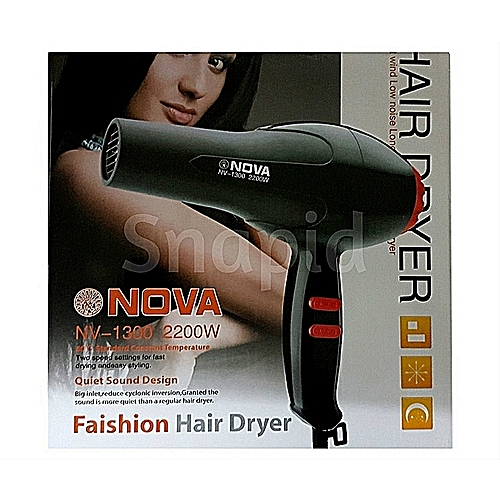 606419f3c8 Nova Hair Dryer - Nova NV1300 Salon Compact Hair Dryer - 2200W ...