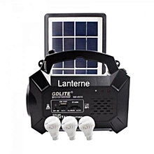 GD Solar Lighting System Kit with LED Lights, Radio, Mp3 Player and Phone Charger