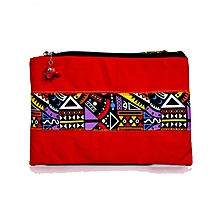 "Ladies Clutch Purse Wallet Mobile Phone Wristlet Wallet Large Capacity iPad Pro 10.5 Sleeve, 10.5 Inch iPad Pro - 9.7"" New iPad 2017 - iPad Pro - iPad Air 2 - Samsung Galaxy Tab Travel Sleeve Bag with Accessory Pockets(Red)"